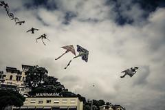 Space invaders (Andrepax) Tags: sky kite aquiloni celle piani liguria