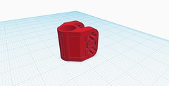 Lego Technic Barrel (hajdekr) Tags: gun barrel lego technic hollow custom print printed 3dprint prusa pla