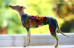flowerbomb galgo 002 (adore62) Tags: flowerbombgalgo feltedfido felteddog needlefelteddog needlefelted embroidered embroidery flowerbomb