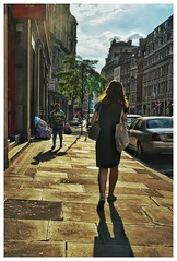 Who's that lady (luigicalori) Tags: afternoon business busy work girl woman sun rays uk city hairs gold lady alfa7m2 7m2 sony 24 zeiss controluce london
