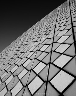 Closeup of the tiles on the Sydney Opera House