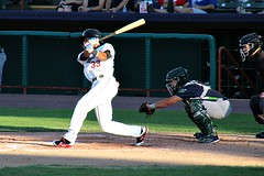 BIG SWING (MIKECNY) Tags: jeremypena swing batter atbat tricityvalleycats nypennleague astros catcher vermontlakemonsters