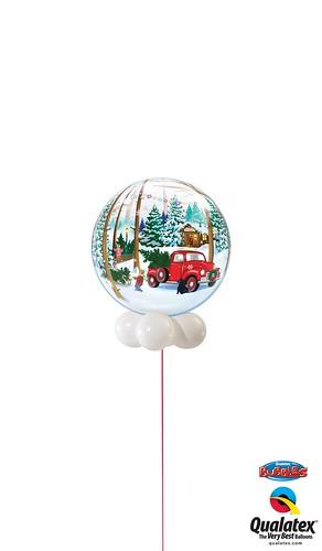 Snowscape & Antique Truck Bubble