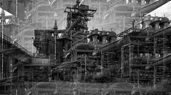 alte Industriekultur (gabrieleskwar) Tags: outdoor alt architektur industrie industriegeschichte schwarzweiss schatten formen marode metall nrwgermany ruhrgebiet umrisse verlassen verfall
