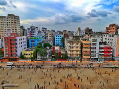 City Life, Dhaka (Sagor's) Tags: city buildings dhaka town colo color colors colour colours sky cloud clouds sunset sunray ray light day daylight bd bangladesh nice beautiful home field miniature people person