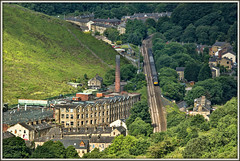 Mills and a Boon (david.hayes77) Tags: 33207 class33 crompton brcw englishelectric class37 type3 37516 scarboroughspaexpress 1z25 yorkshire westyorkshire valley calderdale caldervalley cornholme landscape frosthulmemill 2018 westcoastrailwaycompany wcrs burnleyroad a646