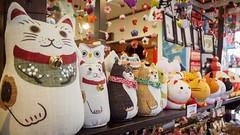 Lucky cats (AMcUK) Tags: taitōku tōkyōto japan jp em10 omdem10 omdem10mkii em10mkii omd olympus olympusuk m43 micro43rds micro43 microfourthirds nippon tokyo cats lucky luckycats manekineko