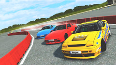 train akina w/ jeta and jaca (Naga;;) Tags: tandem train akina drift dorifuto yellow red blue sky street rua cars live for speed lfs