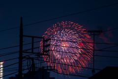 Fireworks (hidesax) Tags: fireworks 2015 ageo saitama japan takenfrommyroofbalcony cannotbeseenanymorenow hidesax nikon d800e 80400mm