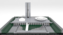National congress of Brazil Lego MOC 1 (guillaume.pisella) Tags: lego architecture moc building microscale national congress congresso nacional brazil brasilia architect oscar niemeyer modernism plaza three powers white roof dome tower office assembly chambers 1960