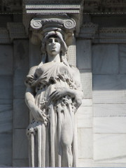 Mysterious Woman Dame Spring Caryatid NYC 5421 (Brechtbug) Tags: mysterious woman dame spring caryatid stone ladies courthouse roof statues across from madison square park new york city atlantid 2018 nyc 07152018 art architecture gargoyle gargoyles statue sculpture sculptures facade figures column columns court house law government building lady women figure form far east buildings season seasons springtime