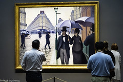 Paris Street, Rainy Day (Thad Zajdowicz) Tags: zajdowicz chicago illionis usa travel artinstituteofchicago artic museum leica art availablelight lightroom people painting gustavecaillebotte indoor inside candid unposed
