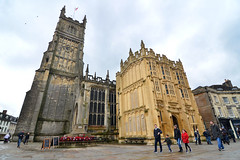Church of St. John Baptist, Cirencester (Thomas Roland) Tags: historic corinium cirencester church st john baptist travel rejse trip city by oxford uk great britain england oxfordshire nikon d7000 spring march marts forår 2018 architecture building nave gallery chancel chapel kapel kirke wide wideangle
