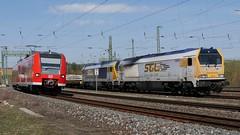 Aufnahmen aus Rottendorf (TrainspotterLitchi) Tags: ostern rottendorf db würzburg maintalbahn trainspotterlitchi trainspotting zug güterzug
