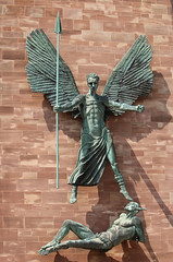 Coventry Cathedral (AnthonyR2010) Tags: coventry warwickshire cathedral church stmichael coventrycathedral jacobepstein epstein statue