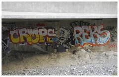 ANF_0542 (Thomas Willard) Tags: california graffiti mural tag landscape mountains wash bed river overpass bridge concrete gunite national forest