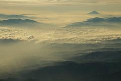 Clouds and mountains (Teruhide Tomori) Tags: morning landscape mountain nature japan japon sky plane nagano clouds 長野 風景 日本 日本アルプス 中央アルプス 北アルプス 上空 雲 信州 mtfuji 富士山