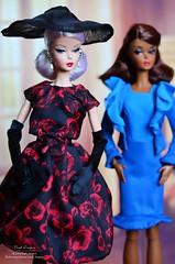 Barbie silkstone doll 01 (Lindi Dragon) Tags: doll barbie silkstone elegant rose cocktail dress chic city suit gold label