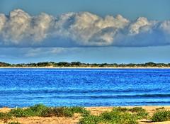 Looking towards Broulee island III (elphweb) Tags: hdr highdynamicrange nsw australia seaside sea ocean water beach sand sandy