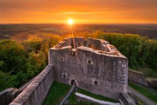 Sunset at castle Weidelsburg