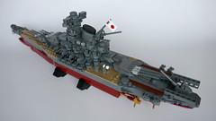 Yamato Battleship (v3) (LegoWyrm) Tags: brickfest lego japan battleship yamato 大和