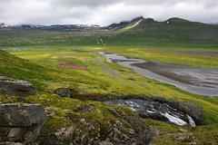 Day 4: View of Hornvík from Kýrskarð pass (Gregor  Samsa) Tags: iceland icelandic north deepnorth trek trekking track tracking backpacking trip journey adventure outdoors outdoor nature naturereserve scenic scenery walk walking hike hiking path footpath trail exploration summer hornstrandir