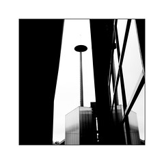 Cité de la Musique -2- (Jean-Louis DUMAS) Tags: monochrome bw noir blanc noretblanc architecte architecture architect courbes fenêtre windows art artistic artistique abstrait abstraction abstract lignes géométrique noiretblanc