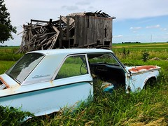 Just another decaying day at the old farm...(abandoned ford fairlane and farm-illinois) (Aces & Eights Photography) Tags: abandoned abandonment decay ruraldecay oldcar abandonedcar abandonedillinois barn fordfairlane oldford