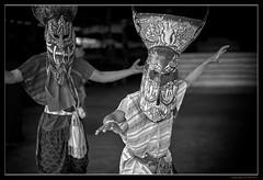 Actors - Thailand theatre (FimRay) Tags: blackandwhite bw monotone monochrome thailand thai people actor actors leica m240 50mm summilux asph asian asia traditional dance dancer dancers mask masked face faces