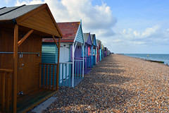Beach huts in Herne Bay, Thames estuary  -  (Selected by GETTY IMAGES) (DESPITE STRAIGHT LINES) Tags: nikon d7200 nikond7200 nikkor1024mm nikon1024mm getty gettyimages gettyimagesesp despitestraightlinesatgettyimages paulwilliams paulwilliamsatgettyimages hernebay hernebaykent beachhuts beachhutshernebay hernebaybeachhuts beach shore shoreline seaside coast coastalcoastline pebbels huts pier hernebaypier woodenpier england