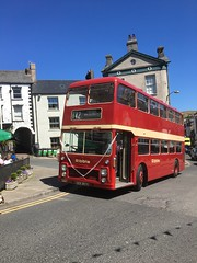 Big red bus. (Bennydorm) Tags: ribblemotors ribble bristolvrt rot rosso rouge giugno junio juni june iphone6s inglaterra inghilterra angleterre europe uk gb britain england cumbria furness ulverston urban town transport red doubledecker bus