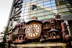 Hayao Miyazaki's Nippon Television big clock at Shiodome Tokyo Japan (mbell1975) Tags: minatoku tōkyōto japan jp hayao miyazakis nippon television big clock shiodome tokyo