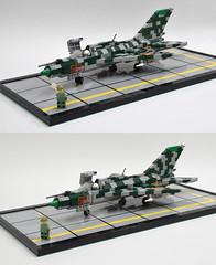 MiG-21 update (Dornbi) Tags: lego mig21 mig21pfm vietnam fishbed 140 diorama rebuild comparison