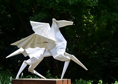 Taking Off (pjpink) Tags: origami sculpture lewisginterbotanicalgarden lewisginterbotanicalgardens lewisginter gardens northside rva richmond virginia june 2018 summer pjpink 2catswithcameras