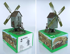 Vero 613 Windmill B (2-82) (adrianz toyz) Tags: tt scale ho vero plastic model railway scenic scenery windmill windmühle fertigmodell ddr gdr eastgermany 613 129613 282 13282