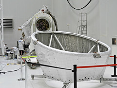 BepiColombo sunshield (europeanspaceagency) Tags: esa europeanspaceagency space universe cosmos spacescience science spacetechnology tech technology bepicolombo bepi journey animation cartoons mercury solarsystem adventures jaxa spacecraft clean room cleanroom white sunshield mmo