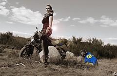 Fallout (~Nancy Riddle Carter~) Tags: fallout fallout76 fun girl bikergirl girlsandbikes kawasaki er6n modding pipboy vaulttec