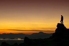 This land is mine... (tiggerpics2010) Tags: scotland lochlomond benlomond thewhangie sunset midsummer evening glasgow auchinedenhill arrocharalps silhouette