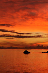 Sunset, Anse a La Mouche - Seychelles (Nick Dean1) Tags: indianocean mahe seychelles sunset