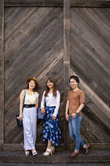 Three young people leaning on wall (Apricot Cafe) Tags: img96081 asia asianandindianethnicities japan japaneseethnicity shibuyaward tokyojapan buildingexterior capitalcities carefree casualclothing colorimage copyspace day enjoyment friendship fulllength happiness harajukudistrict leaning leisureactivity lifestyles longhair men outdoors pattern people photography realpeople smiling straighthair strawhar street summer sustainablelifestyle threepeople togetherness toothysmile wall weekendactivities women woodmaterial youngadult shibuyaku tōkyōto jp