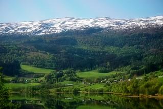 Noruega vista desde el tren.