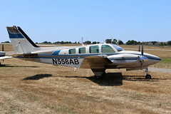 N558AB Beech 58TC Baron on 08 July 2018 Jersey (Jersey Aviation Images 2018) Tags: aircraft airplane aviation aeroplanes aeroplane aircraftspotters planes flyingmachines