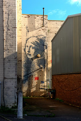 The Girl With The Pierced Eardrum (HiJinKs Media...) Tags: banksy bristol sky