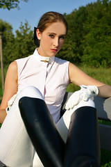 Natalie 26 (The Booted Cat) Tags: sexy riding teen model girl boots ridingboots jodhpur equestrienne