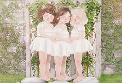 There are friends, there is family, and then there are friends that become family... (Chelsea Noele Bixley) Tags: sisters friends love white garden grass cute girly dress