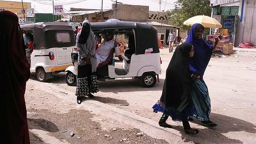 Tuktuk in the streets of Borama