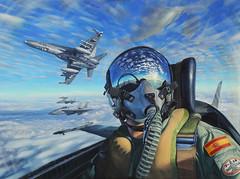 Premios Ejército del Aire 2018 modalidad de Pintura (Ejército del Aire Ministerio de Defensa España) Tags: cuadro oleo pintura aeronáutica militar aeronáutico reflejo
