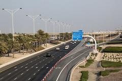 Roadway system, Abu Dhabi (Jim 03) Tags: abu dhabi capital populous united arab emirates largest uaes seven persian gulf oil exports commerce towers mega centres roadway power mosque construction jim03 jimhoffman jhoffman jim wwwjimahoffmancom wwwflickrcomphotosjhoffman2013