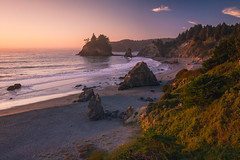 Golden State Glow (nickmillward) Tags: coast california beach sunset nature travel landscape seascape trees ocean sea seastack outdoors