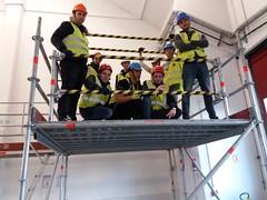 Stage échafaudage (plebreton@cci-paris-idf.fr) Tags: échafaudage stage orly r408 rorme cfi bts fed domotique apprentis formations apprentissage sécurité